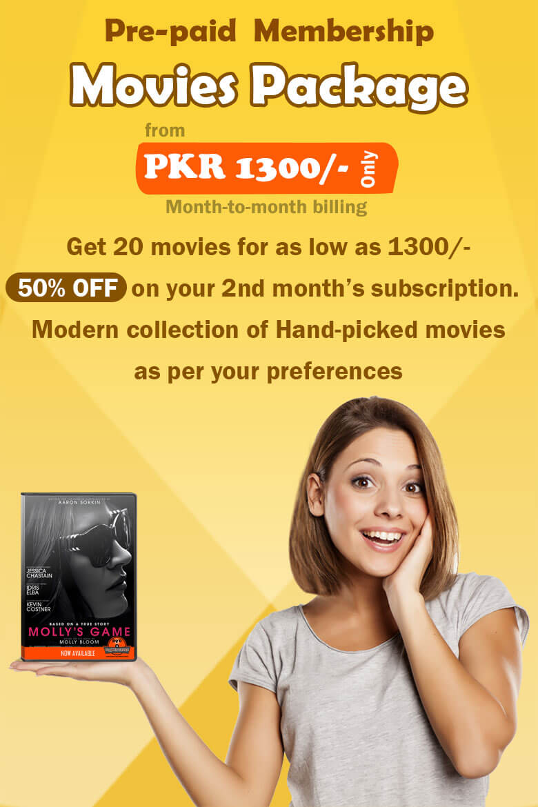 Prepaid membership movies DVD package