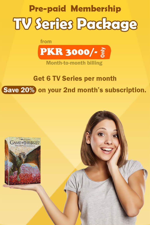 Prepaid membership TV Series Package